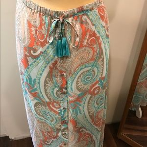 Tribal maxi skirt paisley sz medium